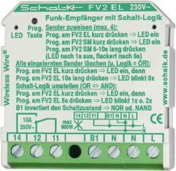 Rádió vevő-kapcsoló relé váltókontakttal [FV2 EL] Wireless Wire